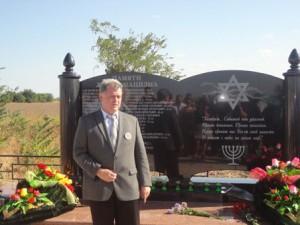 Открытие мемориала в селе Степное